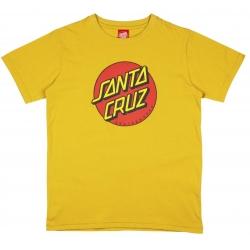 Tee Shirt Santa Cruz Classic Dot Mustard 2020 pour junior