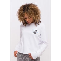 Sweat Santa Cruz Floral Dot White 2020