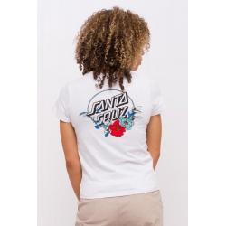 Tee Shirt Santa Cruz Floral Dot White 2020 pour femme, pas cher