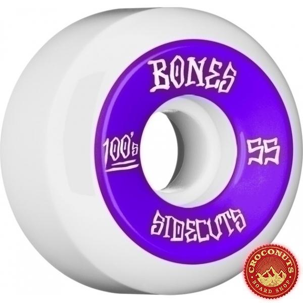 Roues Bones 100's White 55MM 2020