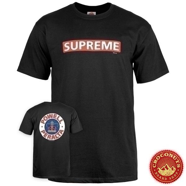 Tee Shirt Powell Peralta Supreme Black  2020