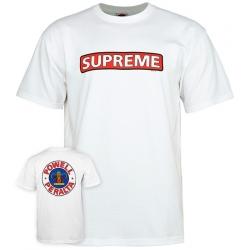 Tee Shirt Powell Peralta Supreme White 2020 pour homme, pas cher
