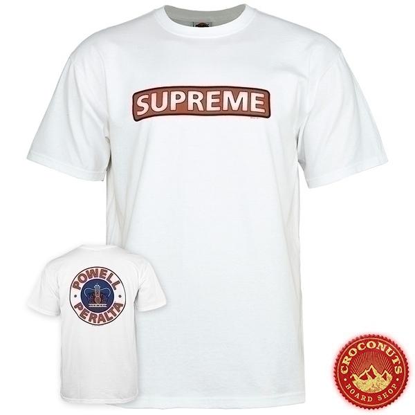 Tee Shirt Powell Peralta Supreme White 2020