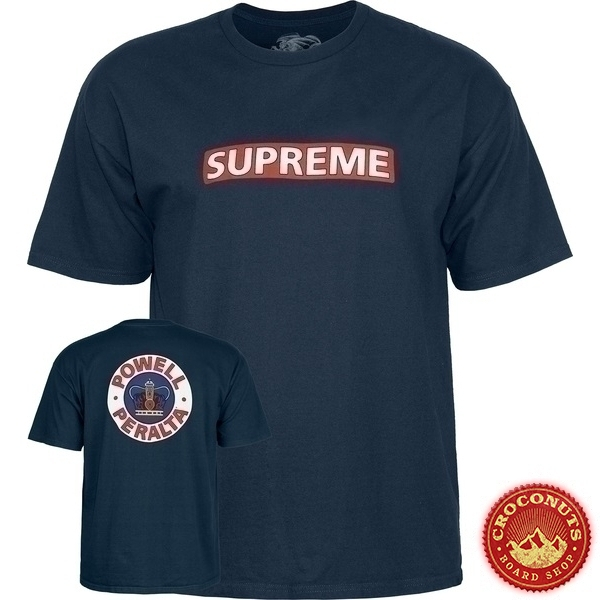 Tee Shirt Powell Peralta Supreme Navy 2020