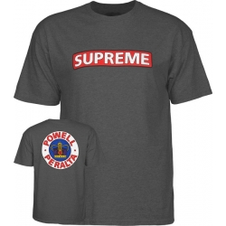 Tee Shirt Powell Peralta Supreme Heather Gray 2020 pour homme