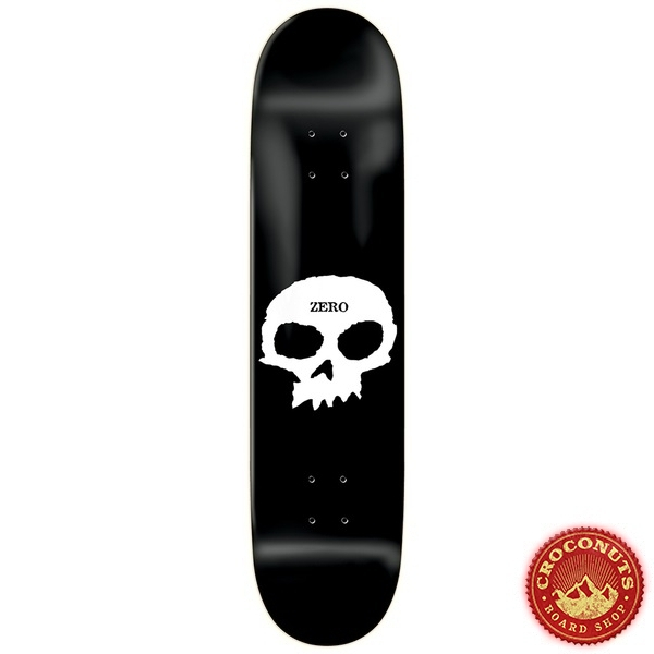 Deck Zero Single Skull R7 White Black 8.25 2020