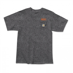 Tee Shirt Grizzly X Carhartt Stamp Work Charcoal 2020 pour homme, pas cher