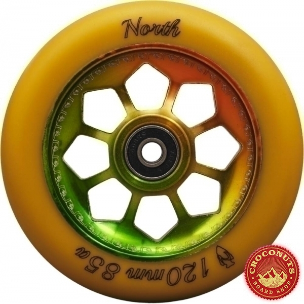 Roue North Pentagon Gum Rasta 120mm 2020