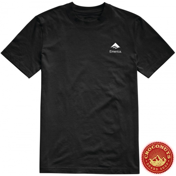 Tee Shirt Emerica X Santa Cruz Logo Drop Black 2020