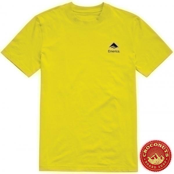 Tee Shirt Emerica X Santa Cruz Logo Drop Yellow 2020