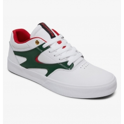 Shoes DC Shoes Kalis Vulc White Red 2020 pour homme, pas cher