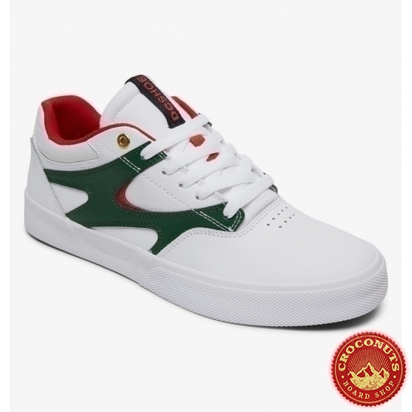 Shoes DC Shoes Kalis Vulc White Red 2020