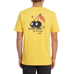Tee Shirt Volcom Nature Knows Yellow 2020 pour , pas cher