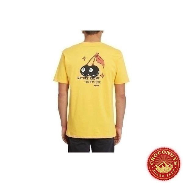Tee Shirt Volcom Nature Knows Yellow 2020