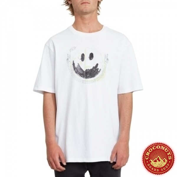 Tee Shirt Volcom Fake Smile White 2020