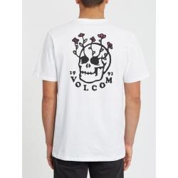 Tee Shirt Volcom Bloom Of Doom White 2020 pour