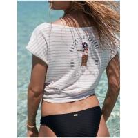 Tee Shirt Roxy Miami Vibes Cafe Creme Stan Stripes 2020