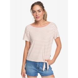 Tee Shirt Roxy Wake Up With The Sun Cafe Creme Zoupla Horizontal 2020 pour femme