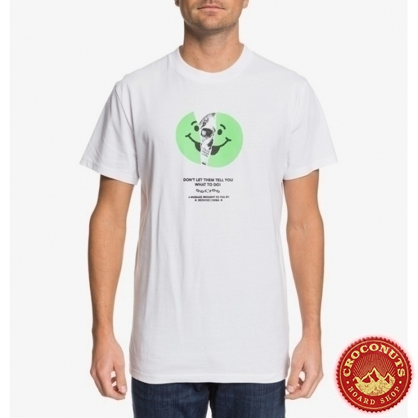 Tee Shirt DC Shoes Dont Let Them White 2020