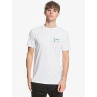 Tee Shirt Quiksilver Slow Burn White  2020