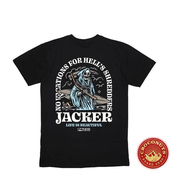 Tee Shirt Jacker No Vacations  Black 2020