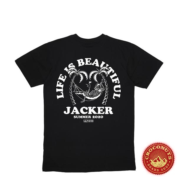 Tee Shirt Jacker Plam Beach Black 2020