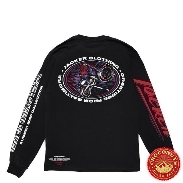 Tee Shirt Manche Longue Jacker Baltimore Black 2020