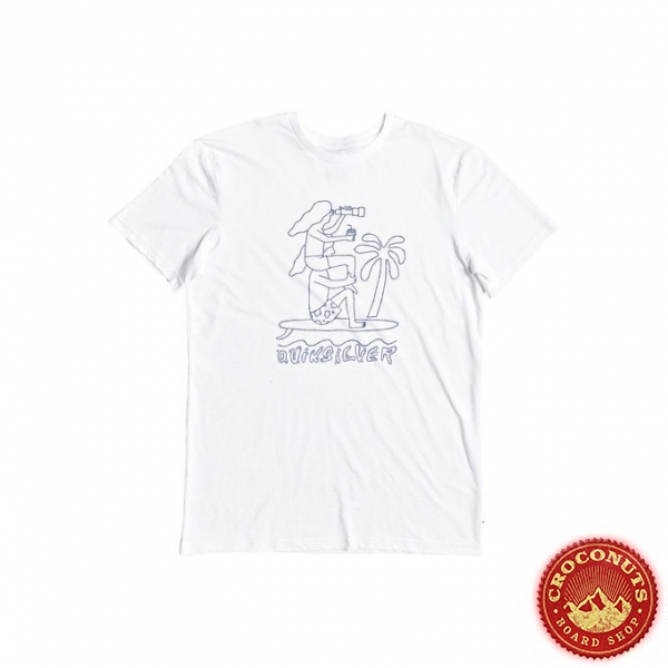 Tee Shirt Quiksilver Turning Heads White 2020