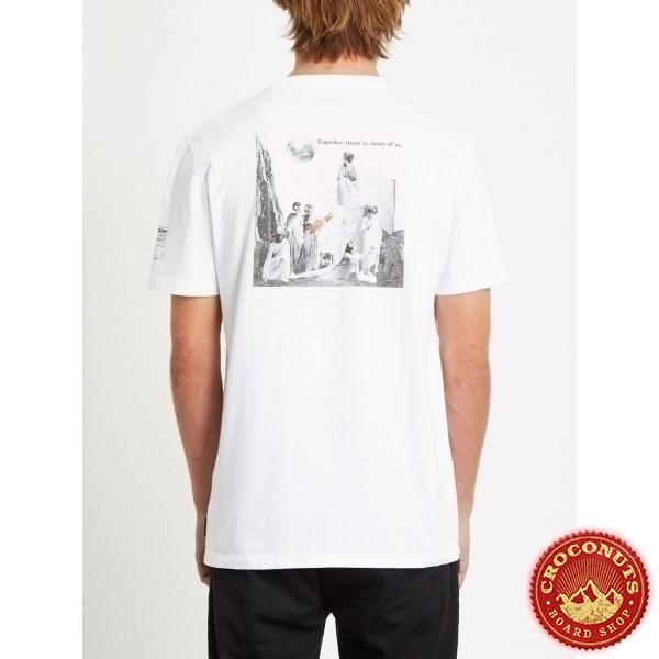 Tee Shirt Volcom Schnips Schnips FA SS White 2020
