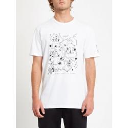 Tee Shirt Volcom Briand FA SS White 2020 pour