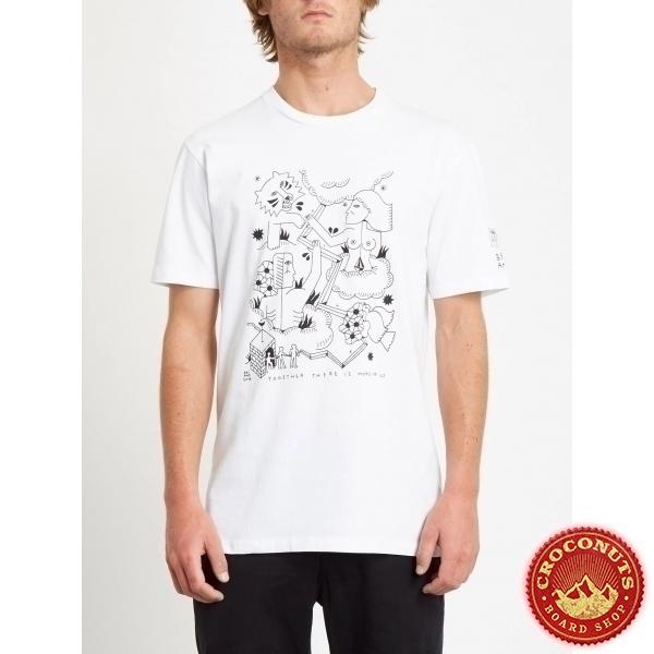 Tee Shirt Volcom Briand FA SS White 2020