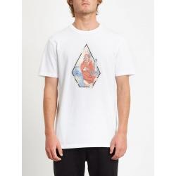 Tee Shirt Volcom Nozaka Skate SS White 2020 pour , pas cher