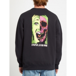 Sweat Volcom Scaromatic Crew Black 2020 pour