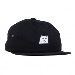Casquette Ripndip Lord Nermal 6 panel Pocket Hat Black 2020 pour