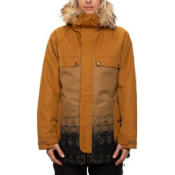 Veste 686 Dream Insulated Golden Brown Tiedye 2021 pour femme, pas cher