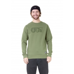 Sweat Picture Basement Flock Crew Army Green 2021 pour homme