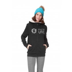 Sweat Picture Basement Zip Hoodie Black 2021 pour femme