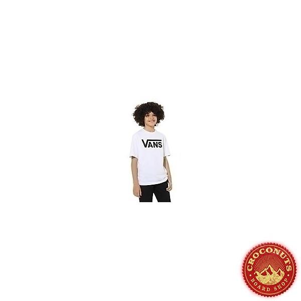 Tee Shirt Vans Classic Boys White Black 2021