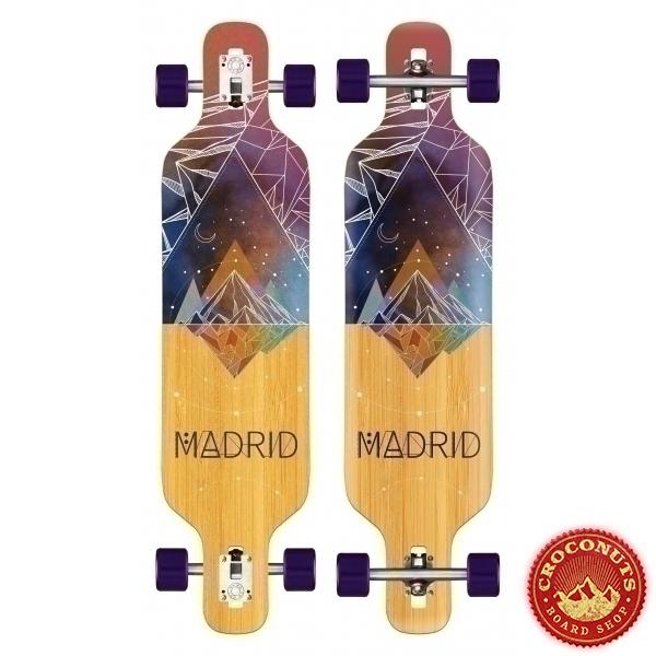 Longboard Madrid Trance Drop Thru Space Mountain Bamboo 2020