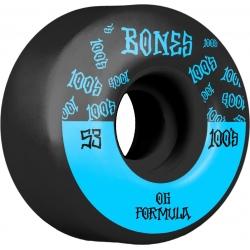 Roues Bones 100's V4 Black 53MM 2020 pour homme