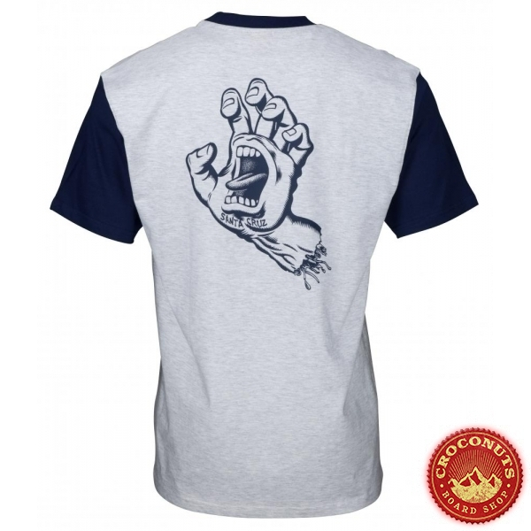 Tee Shirt Santa Cruz Custom Top Outline Hand Dark Navy Athletic 2020