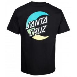 Tee Shirt Santa Cruz Moon Dot Fade Black 2020 pour
