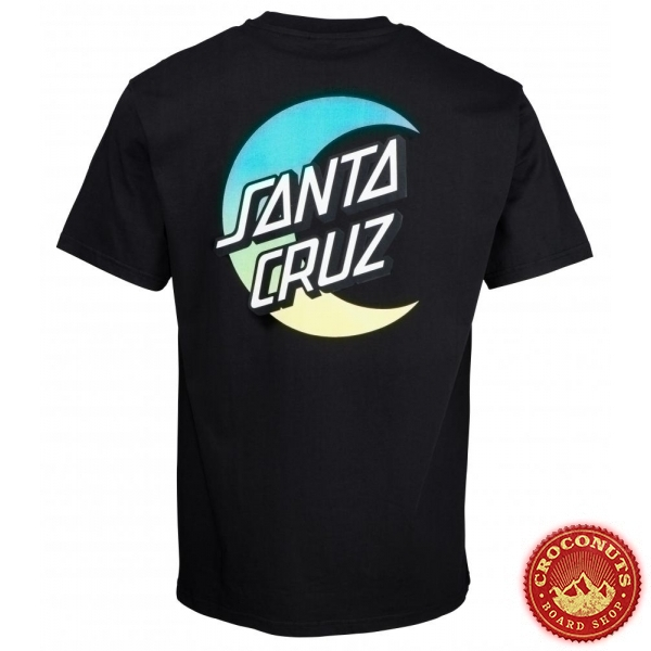 Tee Shirt Santa Cruz Moon Dot Fade Black 2020