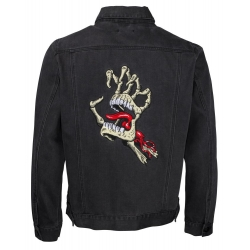 Veste Santa Cruz Vintage Bone Hand Denim Black Washed 2020 pour , pas cher
