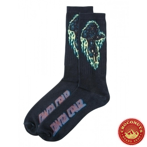 Chaussettes Santa Cruz Cosmic Cat Black 2020