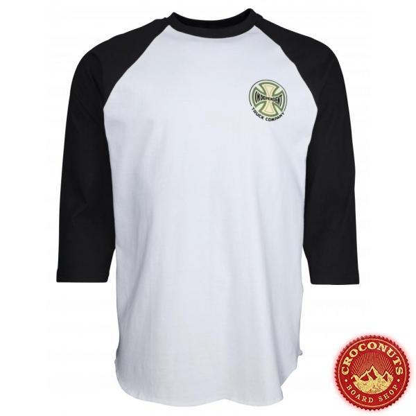 Tee Shirt Independent Custom Top Converge Baseball Black White 2020