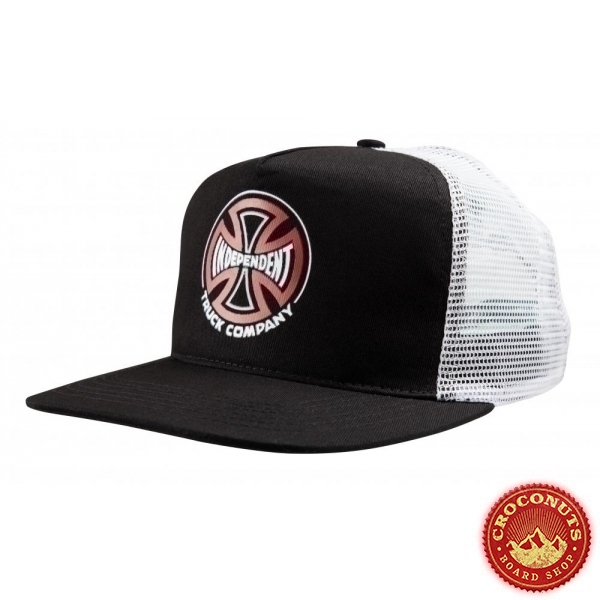 Casquette Independent Converge Meshback Black White 2020