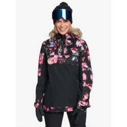 Veste Roxy Shelter True Black Blooming Party 2021 pour femme