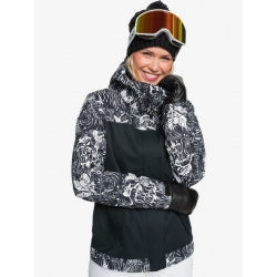 Veste Roxy Jetty True Black Tiger Camo 2021 pour femme