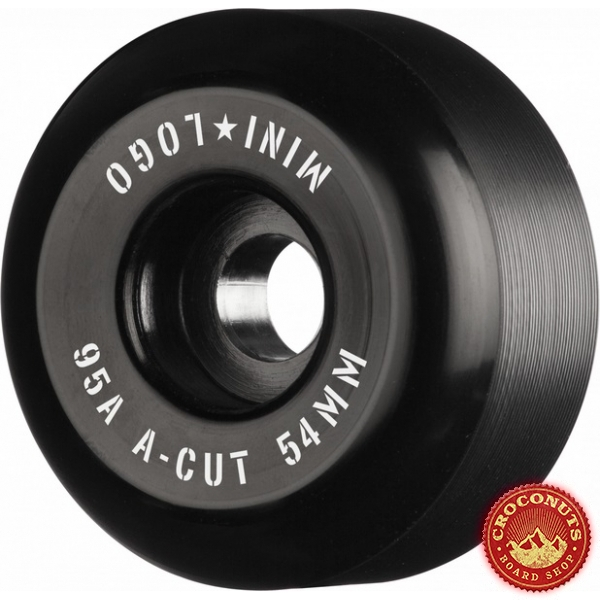Roues Mini Logo A Cut Black 54MM 2020